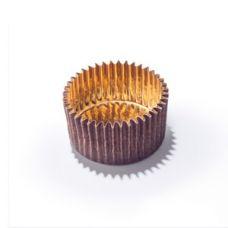 Бумажная капсула для конфет коричневая с золотом, 10 шт.