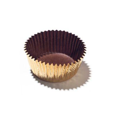 Бумажная капсула для конфет золотая, 10 шт.