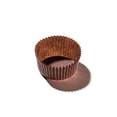 Бумажная капсула для конфет коричневая, 20 шт.