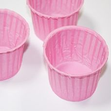 Бумажная капсула усиленная розовая, 100 шт.