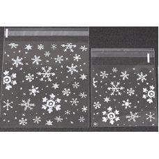 Пакетик для сладостей Снежинки 7*7, 10 шт.