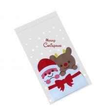 Пакетик для сладостей Дед Мороз и Олененок, 10 шт.