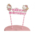"Топпер-растяжка для торта ""Happy Birthday"" (Hello Kitty)"