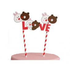 """Топпер-растяжка для торта """"Love"""""""