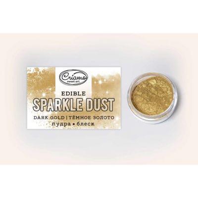 Сухой краситель Пудра-блеск Темное золото