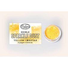 Сухой краситель Пудра-блеск Желтая