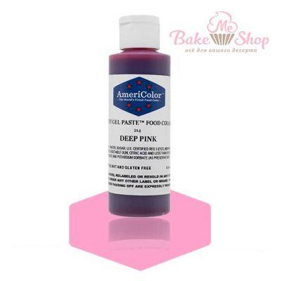 Гелевый Краситель AmeriColor Deep Pink #214 (розовый), 128 гр.