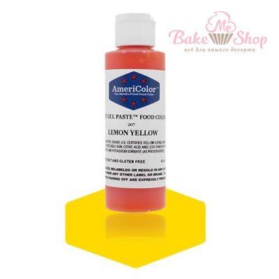 Гелевый Краситель AmeriColor Lemon Yellow #207 (лимонный), 128 гр.
