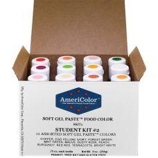 Набор гелевых красителей AmeriColor Student kit 2 (студент 2), 12 цветов
