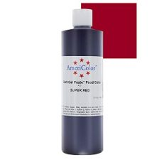 Гелевый Краситель AmeriColor Super Red #420 (насыщенный красный), 383 г