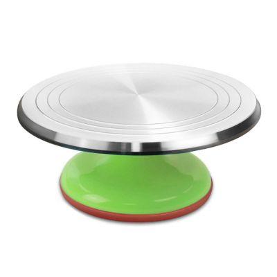 Вращающаяся металлическая подставка для торта поворотный столик, зеленый