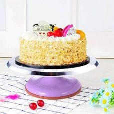 Вращающаяся металлическая подставка для торта поворотный столик, фиолетовый