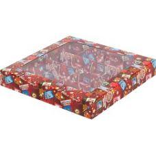 Коробка для конфет Новогодняя почта, 19*19*3 см.