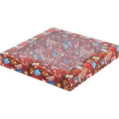 Коробка для конфет Новогодняя почта, 19*19*3 см