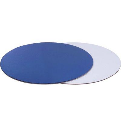 Подложка для торта синяя/жемчуг, толщ.=2,5 мм., d=26 см.