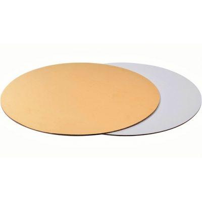 Подложка для торта золото/жемчуг, толщ.=3,2 мм., d=30 см.