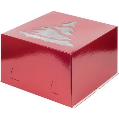 Коробка для торта 30*30*19, Елка