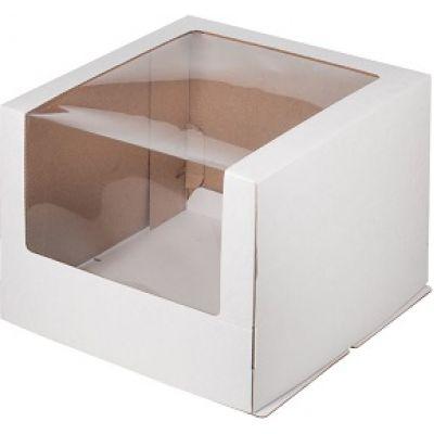Коробка для торта 30*30*22 с окном