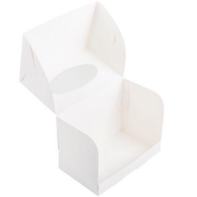 Коробка для 2 капкейков белая с окном