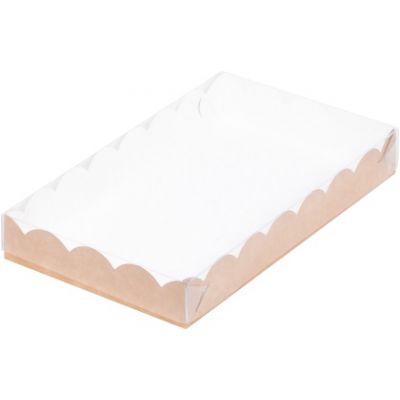 Коробка для кондитерских изделий крафт, 22*15*3,5 см.