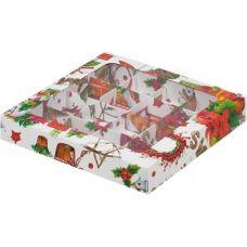 Коробка для конфет Новогодняя, 19*19*3 см.