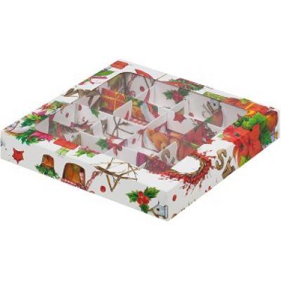 Коробка для конфет Новогодняя, 19*19*3 см