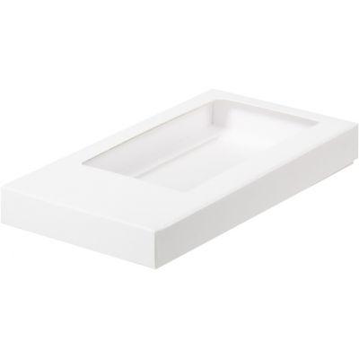 Коробка для кондитерских изделий (шоколадной плитки) белая, 18*9*1,7 см.