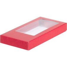 Коробка для кондитерских изделий (шоколадной плитки) красная, 16*8*1,7 см.