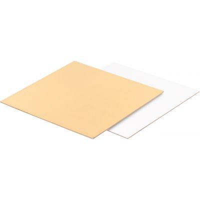 Подложка для торта прямоугольная золото/жемчуг, толщ.=3,2 мм., 30*40 см.