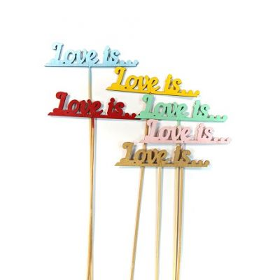 """Топпер для торта """"Love is..."""""""