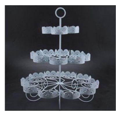 Подставка для капкейков ажурная, 3 яруса