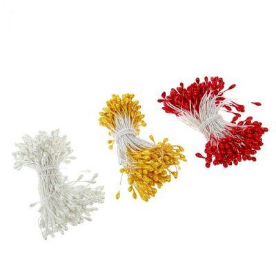 """Тычинки для искусственных цветов """"Белые капельки"""""""