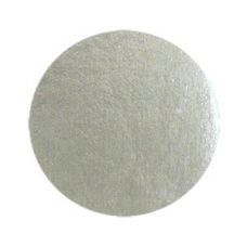 Подложка для десерта круглая серебряная, диаметр 8 см