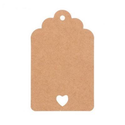 Набор бирок с сердечком, двусторонние, 8*5 см