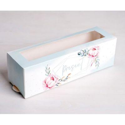 "Коробка для макаронс ""Сладкий подарок"", 18*5,5*5,5 см."