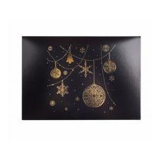 Коробка для 6 капкейков новогодняя черная с золотом
