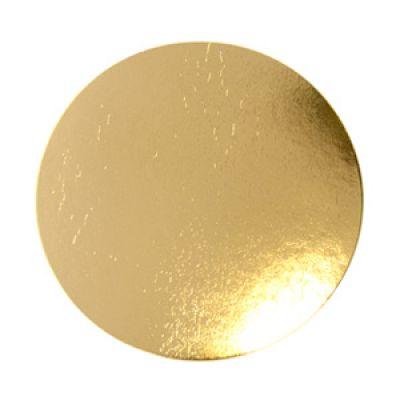 Подложка для торта круглая золотая, диаметр 38 см