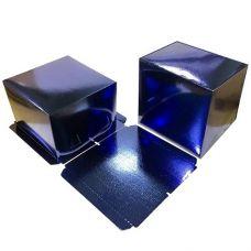Коробка для торта 26*26*18, синяя