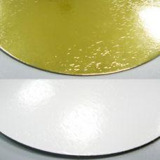 Подложка для торта золото/жемчуг, толщ.=1,8 мм., d=26 см.