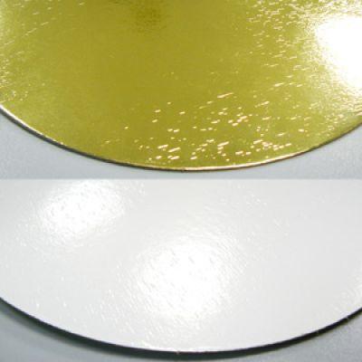Подложка для торта золото/жемчуг, толщ.=1,8 мм., d=22 см.