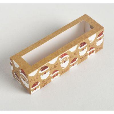 """Коробка для макаронс """"Новогоднее настроение"""", 18*5,5*5,5 см."""