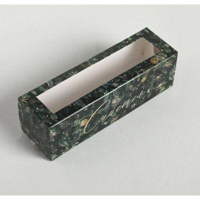 """Коробка для макаронс """"Зимняя сказка"""", 18*5,5*5,5 см."""