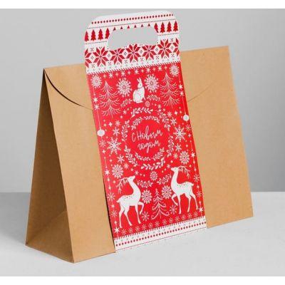 """Пакет подарочный """"Волшебного Нового года"""", 30*23*10 см."""