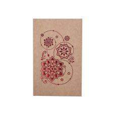 Коробка для 4 капкейков, пряников и других сладостей Новогодняя с обечайкой крафт с красным