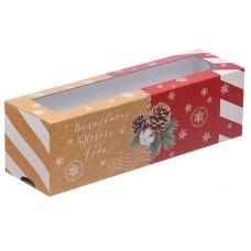 """Коробка для макаронс """"Волшебного Нового года"""", 18*5,5*5,5 см"""