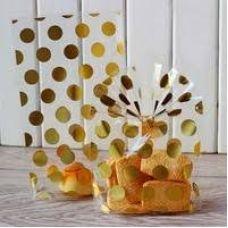 Пакетик для сладостей Золотой горошек 13*21, 10 шт.