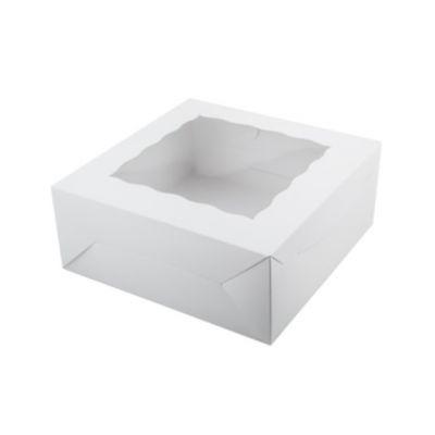 Коробка для 9 капкейков ПРЕМИУМ белая с окном