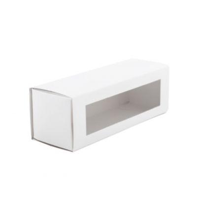 Коробка для макаронс с окном белая для 5 - 6 шт.