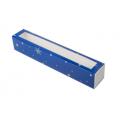 Коробка для макаронс новогодняя синяя для 10 - 12 шт.