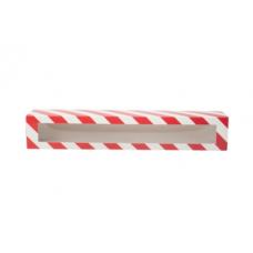 Коробка для макаронс новогодняя красная для 10 - 12 шт.